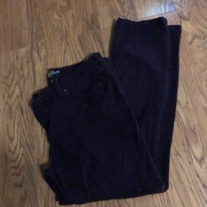 Lucky Brand Plum Sueded Denim Jeans